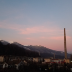 Lupeni Smokestack at Sunset